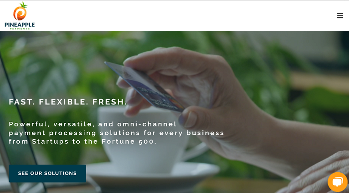Pineapple Payments homepage