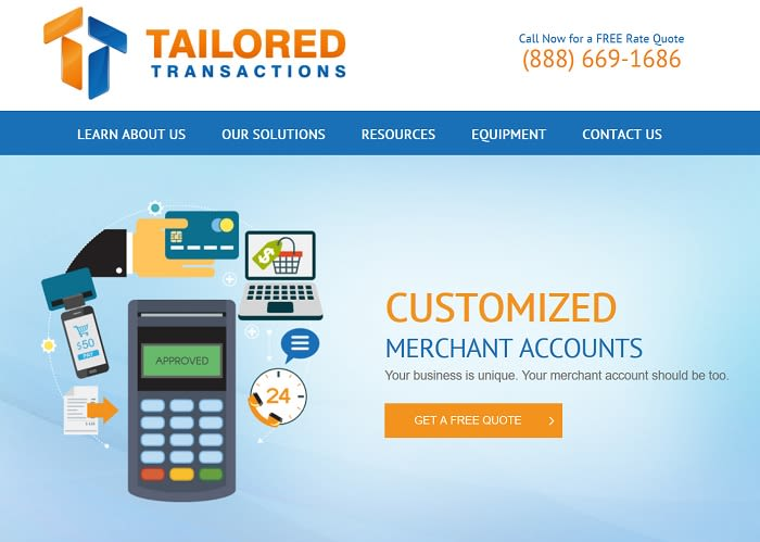 Tailored Transactions homepage