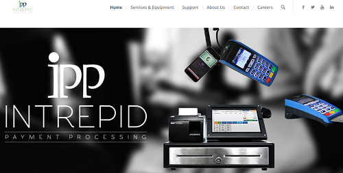 Intrepid Payment Processing homepage