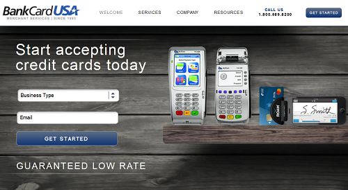BankCard USA homepage
