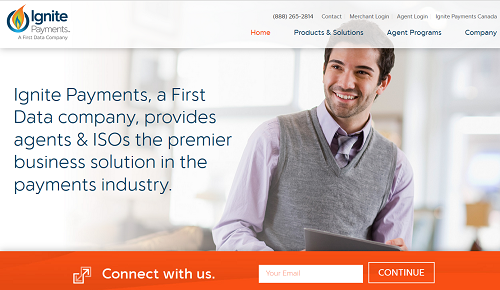 Ignite Payments homepage