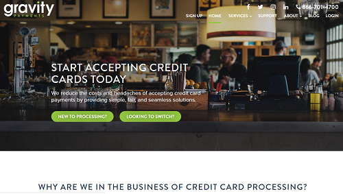 Gravity Payments homepage