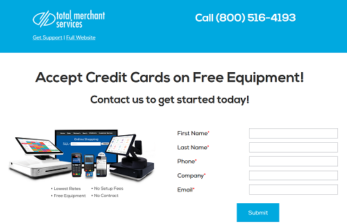 Total Merchant Services homepage