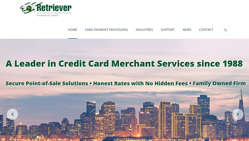 Retriever Payment Systems homepage