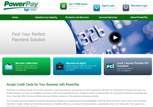 PowerPay homepage