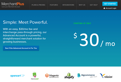 MerchantPlus homepage