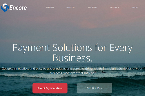 Encore Payment Systems homepage