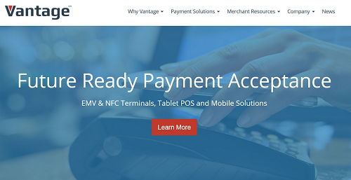 Vantage Card Services homepage