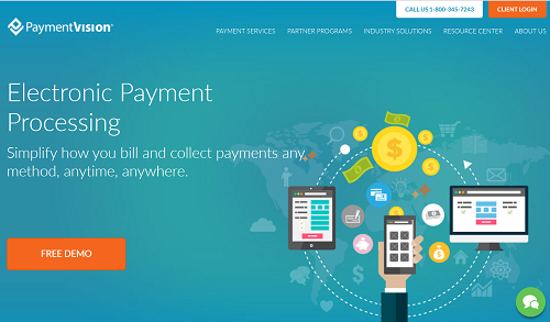PaymentVision homepage