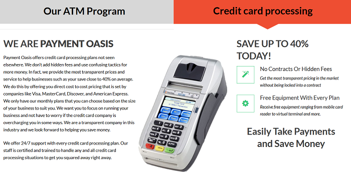 Payment Oasis homepage
