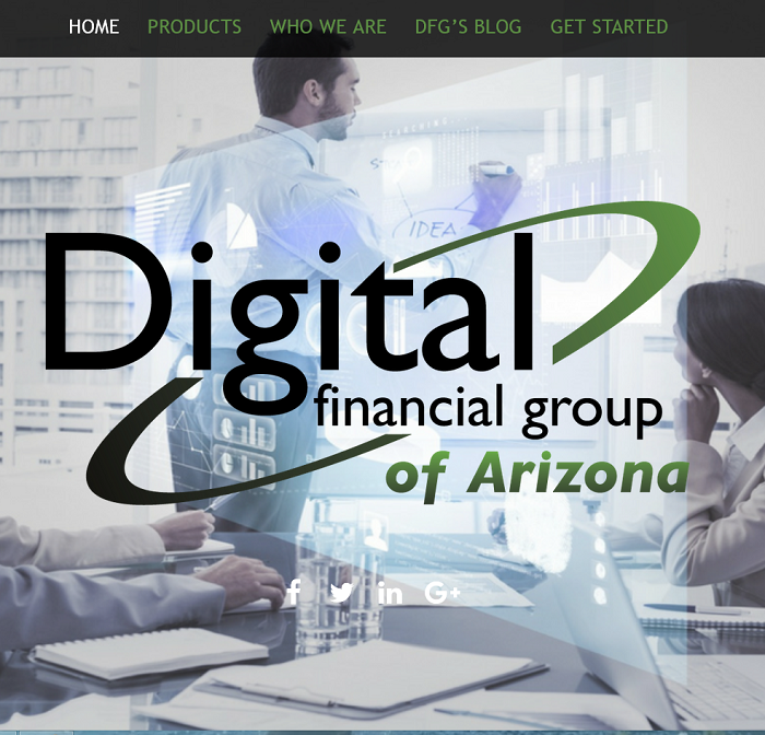 Digital Financial Group homepage