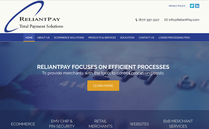 ReliantPay homepage