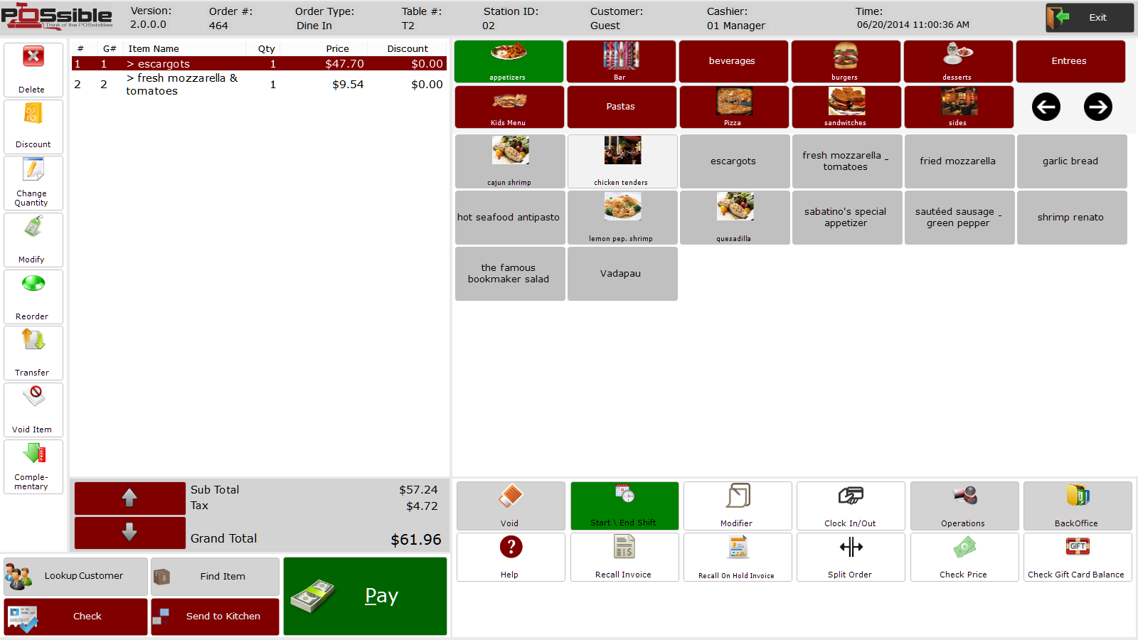 POSsible POS sales screen