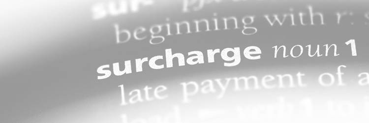 Charging Fee for Credit Cards
