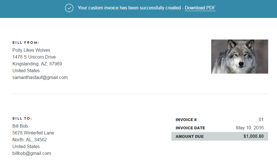 Free Invoice Template Makers Compare Credit Card Processing - Shopify invoice template