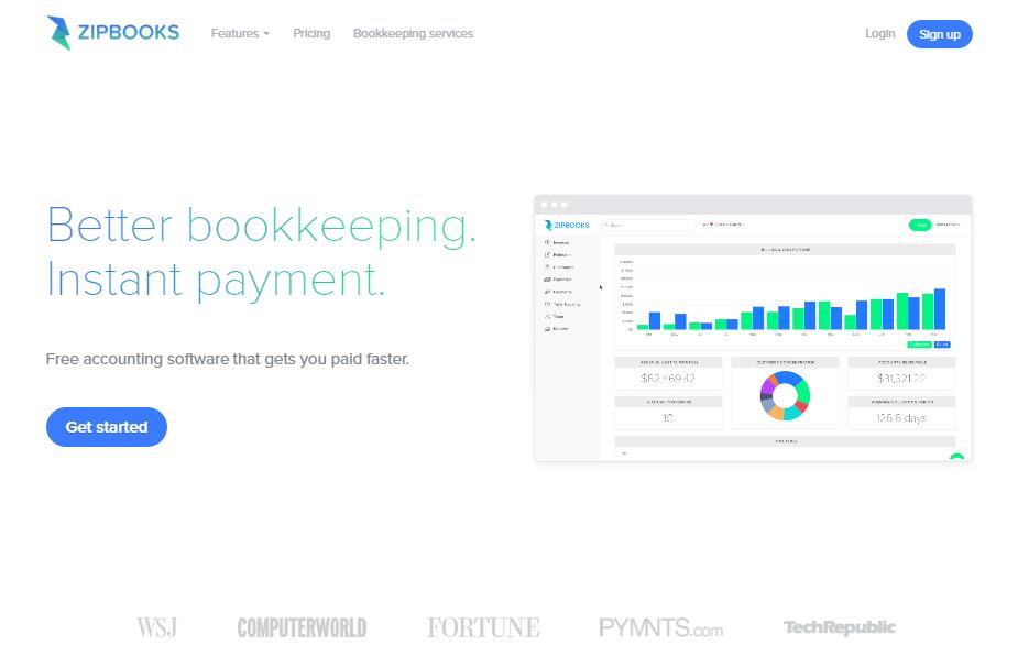 Zipbooks screenshot