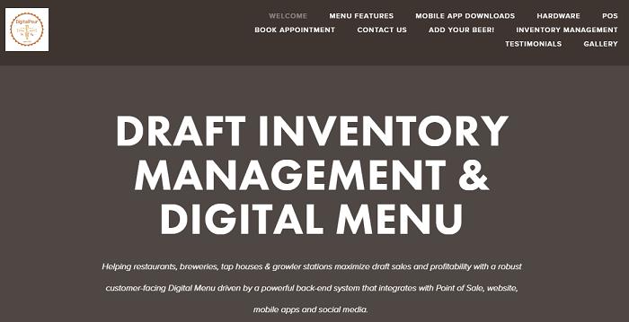 Digital Pour homepage