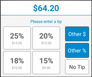 suggested gratuity percentage