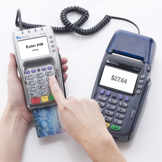 credit card machine with PIN pad