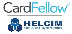 CardFellow logo with Helcim logo