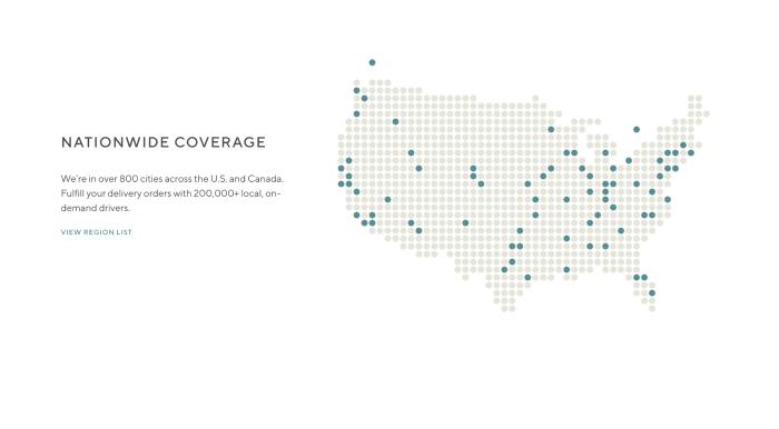 DoorDash coverage map