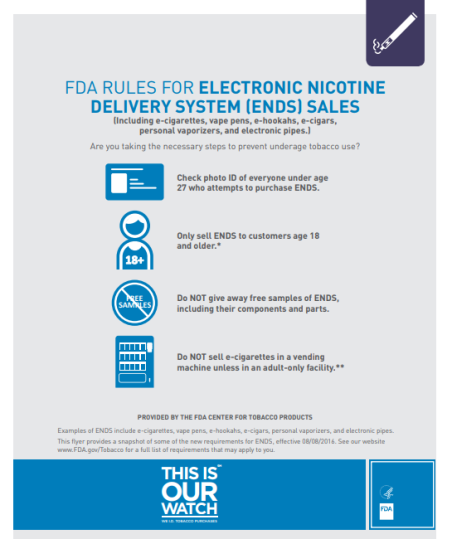 FDA vape regulations