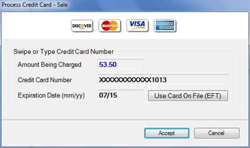 Helios credit card processing