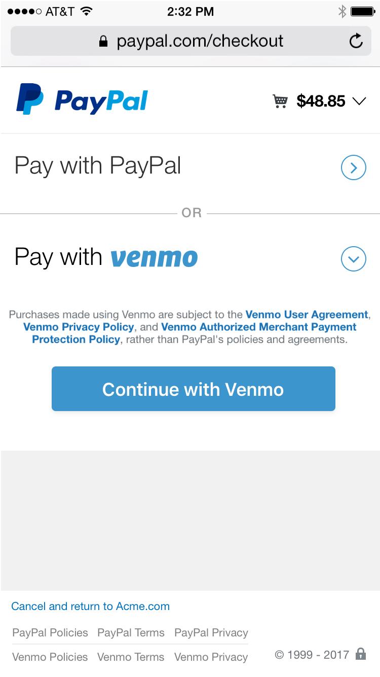 Venmo paypal
