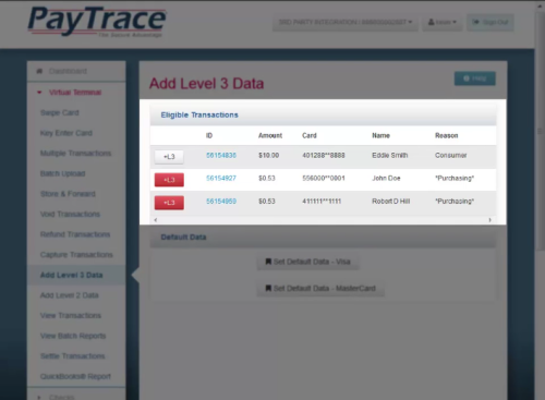 PayTrace level 3