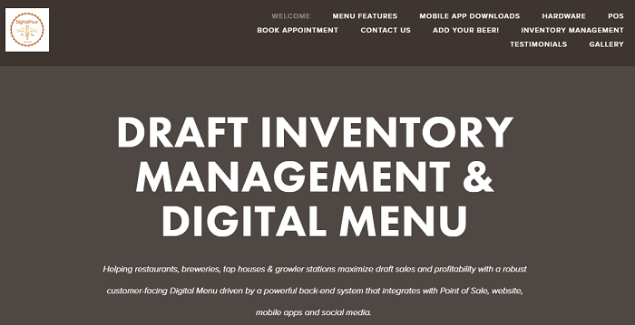 Digital Pour homepage