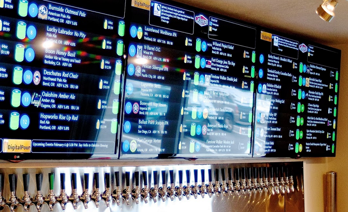 Digital Pour display