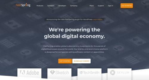 FastSpring homepage