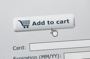 mouse on add to cart button of ecommerce site