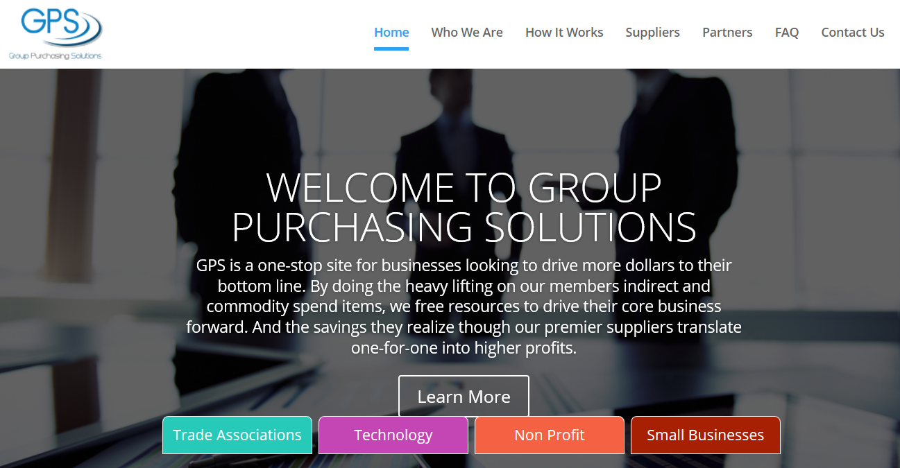 Group Purchasing Solutions homepage