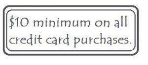 minimum credit card charge