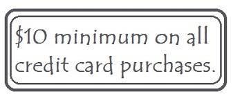 minimum credit card charge
