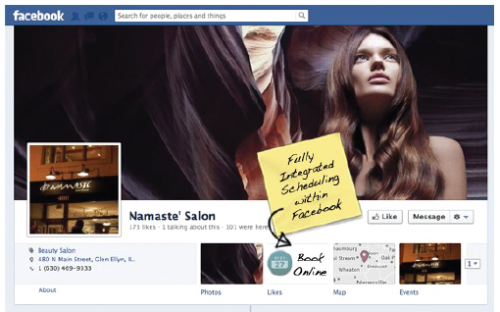 Rosy salon software facebok integration