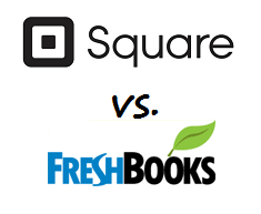 Square vs. FreshBooks logos
