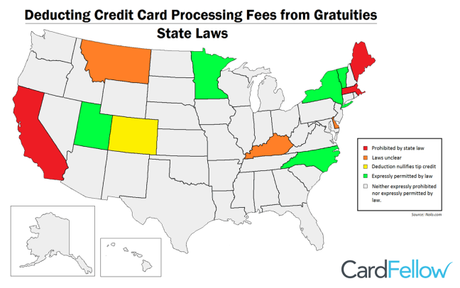deducting processing fees map